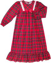 Laura Dare Classic Christmas Plaid Long Sleeve Nightie, 6X