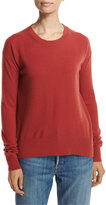 Vince Boxy Cashmere Pullover Sweater, Red