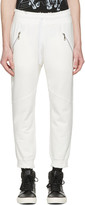 Baja East White Slim Lounge Pants