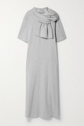 MM6 MAISON MARGIELA Bow-embellished Cotton-jersey Midi Dress