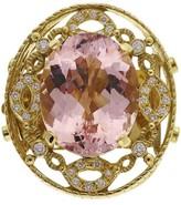 Doris Panos 18K Yellow Gold 23.06ct Morganite Diamond Pendant