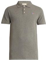 MAISON KITSUNÉ Logo-embroidered cotton-piqué polo shirt