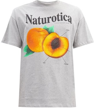 Christopher Kane Naturotica Peach-print Cotton-jersey T-shirt - Grey