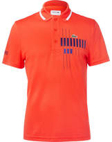 Lacoste Tennis - Novak Djokovic Printed Piqué Tennis Polo Shirt - Orange