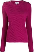 Ganni cable knit jumper