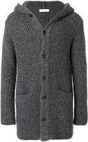 Cruciani hooded ribbed cardigan