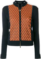 Versace patterned zip jumper