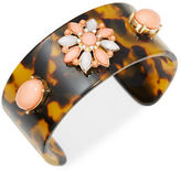 RJ Graziano Tortoise and Floral Cuff Bracelet