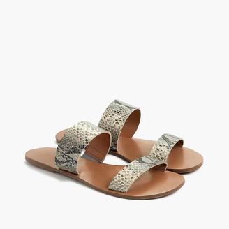 J.Crew Snake-embossed easy summer slide sandals