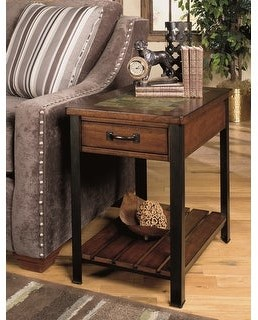 Heartwood Crossing Solid Wood Rectangular End Table