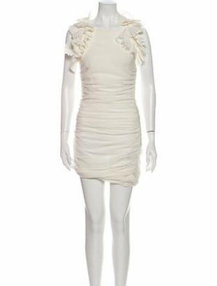 Isabel Marant Square Neckline Knee-Length Dress White
