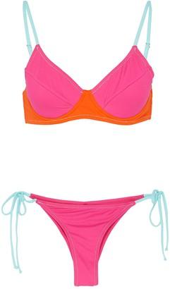 Reina Olga 'Jane' three tone underwire bikini set