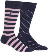 Polo Ralph Lauren Men's 2-Pk. Striped Socks
