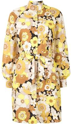 Rebecca Vallance Retro Floral Print Shirt Dress