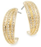 Swarovski Volatile Crystal Pavé Hoop Earrings