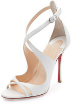 Christian Louboutin Malefissima Crisscross 100mm Red Sole Sandal
