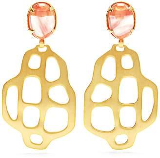 MARTE FRISNES Avalon quartz and gold-plated earrings