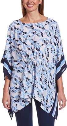 Rafaella Women's Rope-Print Caftan Top