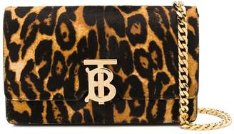 Burberry leopard print shoulder bag