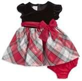 Iris & Ivy Baby Girl's Velvet-Plaid Bow Dress