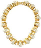 Lele Sadoughi Simulated Pearl Groove Necklace