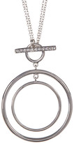 Judith Jack Crystal & Marcasite Double Circle Pendant Necklace