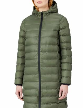 Meraki Amazon Brand Women's Longline Puffer Jacket with Hood