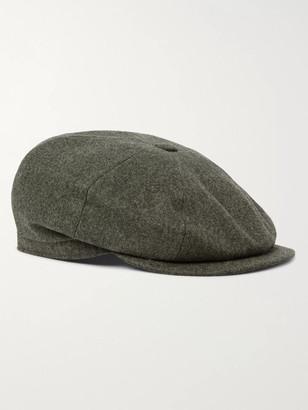 Brunello Cucinelli Wool-Flannel Flat Cap