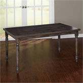 Asstd National Brand Burntwood Wood-Top Dining Table