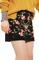 Topshop Women's Ivy Flower Embroidered Skirt