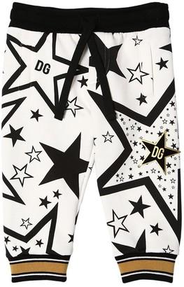 Dolce & Gabbana Star Print Cotton Sweatpants