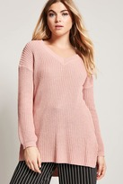 Forever 21 High-Low Sweater-Knit Top