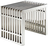 Modway Gridiron Small Stainless Steel Bench