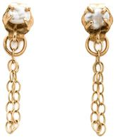 Melissa Joy Manning 14kt gold pearl chain earrings