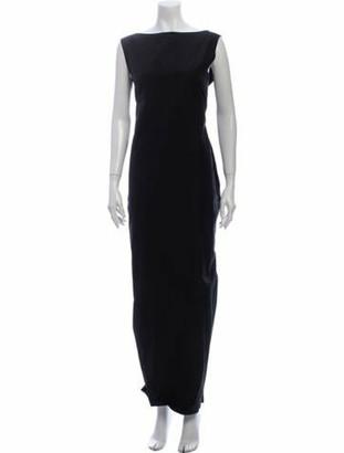 Lanvin Bateau Neckline Long Dress Black