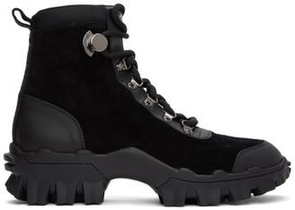 Moncler Black Suede Helis Boots