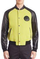 Versace Giubbotto Leather Bomber Jacket