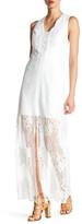 Adelyn Rae Woven Sleeveless Lace Maxi Dress