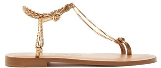 Álvaro González Alila Chain Plaited-leather Sandals - Womens - Gold