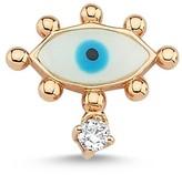 Selda Jewellery Evil Eye Stud Earring With White Diamond - Single