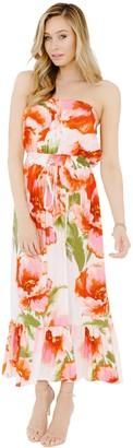 Plum Pretty Sugar Floral Strapless Flounce Dress