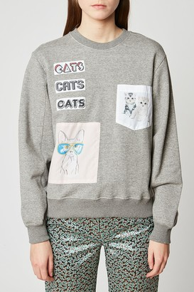 Paul & Joe Sister Coolcats Patch Pullover Sweatshirt