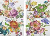 Mackenzie Childs MacKenzie-Childs - Flower Market Cork Back Placemats - Set of 4 - White