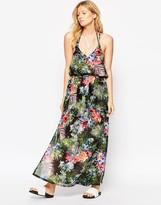 Liquorish Tropical Print Maxi Dress