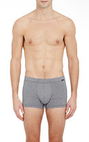Hanro Men's Striped Boxer Briefs-BLUE