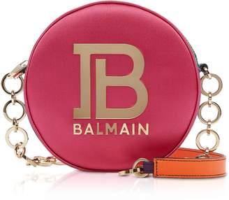Balmain Mini Disco Shoulder Bag w/Metal Logo