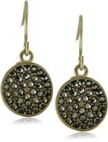 Kenneth Cole New York Disc Pave Drop Earrings