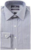 Hart Schaffner Marx Non-Iron Classic-Fit Spread Collar Striped Dress Shirt