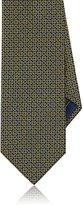 Brioni Men's Chain-Link-Print Silk Necktie-YELLOW