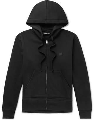 Acne Studios Ferris Logo-Appliqued Fleece-Back Cotton-Jersey Zip-Up Hoodie